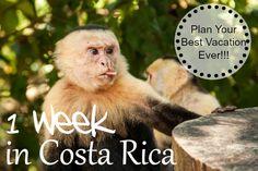 Costa Rica 1 week Vacation - Plan your Best Vacation ever!  UnevenSidewalks.com