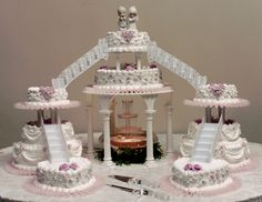 wedding cake. i want the bridges & the fountain not as much the preciouse moments