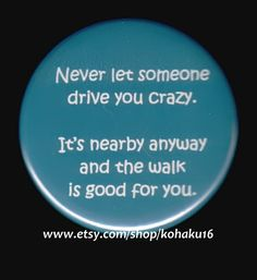 Button About How To Go Crazy by kohaku16 on Etsy