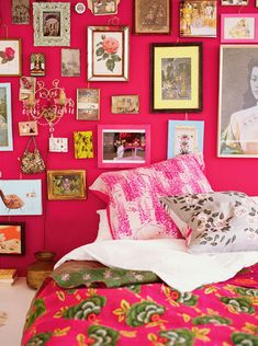 Pink picture wall