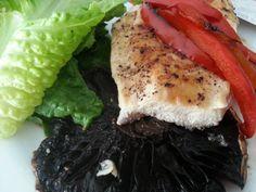 Very Easy Grilled Chicken Breast with Portobello Mushroom! Yummylicious!!