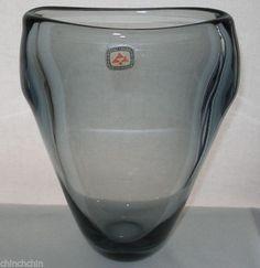 Magnificent LEERDAM Floris Meydam VINTAGE Glass VASE with ORIGINAL Crystal LABEL