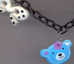Teddy Bow Necklace €5.50 Tiny Violin, Bow Necklace, Heart Charm, Bows, Bracelets, Jewelry, Arches, Jewlery, Jewerly