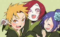 Nagato, Yahiko and Konan