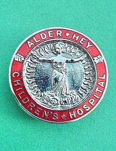Alder Hey Children's Hospital (Liverpool) badge. Liverpool Badge, Liverpool Town, Liverpool History, School Badges, Nursing Pins, Vintage Nurse, Nurse Badge, Childrens Hospital, Historical Pictures
