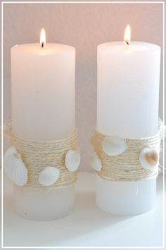 Candles for the bathroom - I'm ready for summer! #Seashell #Summer #Candles