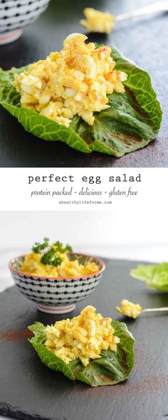 Perfect Egg Salad is a delicious and simple recipe that is packed with protein and easy and quick to prepare.  Making the perfect lunch or mid day snack. - A Healthy Life For Me