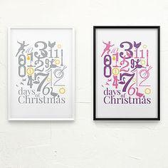 The Twelve Days Of Christmas Decorative Print