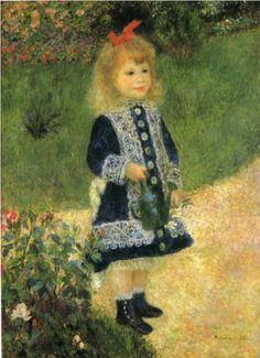 A Girl with a Watering Can - Pierre-Auguste Renoir. This painting has always reminded me of the book/movie The Witches where the little girl gets trapped in the painting. Yup a beautiful Renior creeps me out.