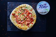 Pizza με λευκή σάλτσα Flair Cottage Cheese