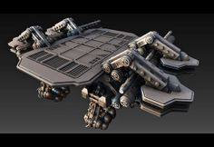 SciFi Platform by Alexander Dimitrov, via Behance