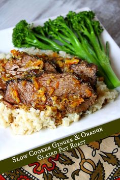 Slow Cooker Ginger and Orange Glazed Pot Roast