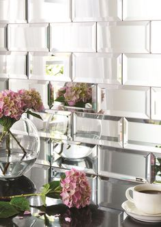 Mirror bevel brick tiles will give any environment a glamorous edge, whilst bouncing around light and making the space feel bigger. www.originalstyle.com