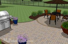 Easy+Patio+Paver+Ideas | Simple Brick Patio Design with Circle Paver Kit | Patio Plans and ...