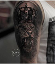 Lion Crown Tattoos Designs lion crown tattoo best tattoo ideas gallery