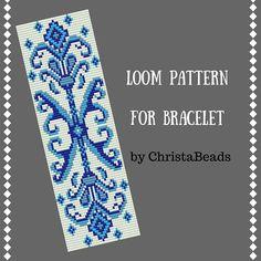 peyote bracelet pattern loom bracelet jewelry pattern winter