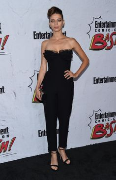 Angela Sarafyan in a Rasario dress at the party, held at Float at Hard Rock Hotel San Diego on Saturday (July in San Diego, California Angela Sarafyan, Hard Rock Hotel, San Diego Comic Con, Tv Shows, Jumpsuit, California, Dresses, Actors, Female