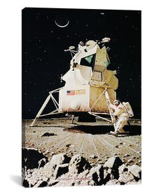 Love this Norman Rockwell Man on the Moon Replica Gallery-Wrapped Canvas on #zulily! #zulilyfinds