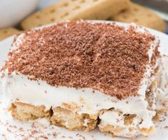 No Bake Peanut Butter Icebox Cake - this easy lush dessert layers peanut butter sandwich cookies with peanut butter pudding! It's the ULTIMATE peanut butter no bake dessert! No Bake Tiramisu Recipe, Tiramisu Dessert, Easy No Bake Desserts, Köstliche Desserts, Dessert Recipes, Potluck Recipes, Plated Desserts, Peanut Butter Sandwich Cookies, Peanut Butter No Bake