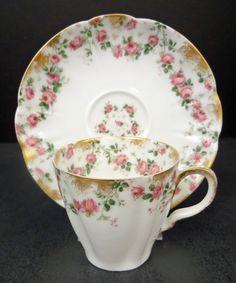 Dainty Antique Haviland Co Limoges Demitasse Cup Saucer