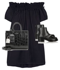 """Untitled #1960"" by ritaraho ❤ liked on Polyvore featuring Clu, Givenchy and Yves Saint Laurent"