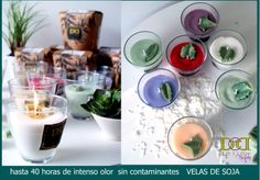 velas de soja de calidad y ecológicas por delier                                                                                                                                                                                 Más Candles, Tableware, Soy Candles, Aromatherapy, Strawberry Fruit, Vegetable Recipes, Dinnerware, Dishes, Candy