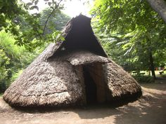 Traditional Jomon pit house, Japan