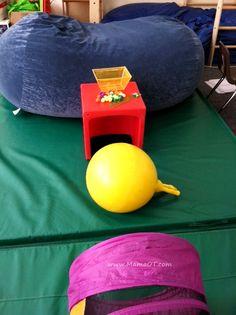 Integrating fine motor play into gross motor play.  Smart.  Gotta love OT.  great blog