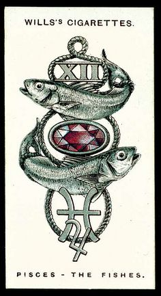 Cigarette Card - Pisces, The Fishes | Flickr - Photo Sharing!