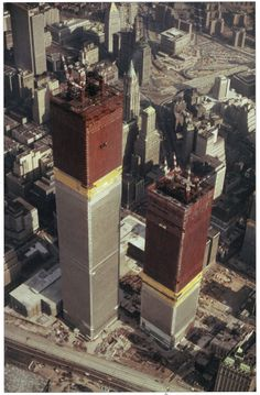 World Trade Centers under construction