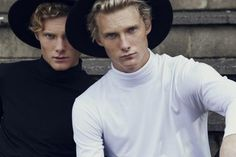 The Twins Shot by Mikey White in Melbourne Wearing Black Fedora Hats– Alkaline Lane