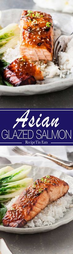 Asian Glazed Salmon   Made this last week, super for a quick midweek meal, INCREDIBLE flavour with just 5 ingredients!