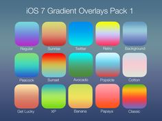 iOS 7 Gradient Overlays Pack 1 by henrymaxm הנרי