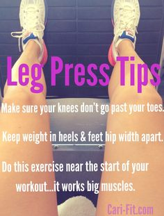 Tips For Using The Leg Press Machine September 5, 2014 — Leave a comment