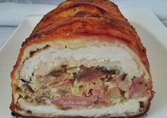 Tastie Dine is under construction Meat Recipes, Recipies, Hungarian Recipes, Hungarian Food, Stromboli, Ham, Bacon, Sandwiches, Easy Meals