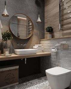 If you want to have an industrial bathroom the key factor is to take the edge of the harsh industrial look. Bathroom design Creating A Convenient Industrial Bathroom - House Topics Best Bathroom Designs, Bathroom Interior Design, Interior Modern, Rustic Bathroom Designs, Design Loft, Bathroom Renos, Bathroom Cabinets, Tiled Bathrooms, Bathroom Renovations