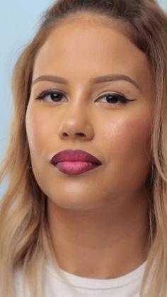Mit diesem simplen ombr farbverlauf trick wirken deine lippen deutlich voller an eye look to make green eyes pop! also a lovely red lip what a combination! Teen Makeup Tutorial, Brown Eye Makeup Tutorial, Wedding Makeup Tutorial, Makeup Tutorial Foundation, Lip Tutorial, Flawless Face Makeup, Lip Makeup, Makeup For Hooded Eyelids, Natural Everyday Makeup