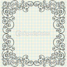 Sketchy Notebook Doodle Frame