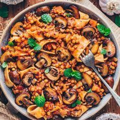 Lentil Recipes, Veggie Recipes, Pasta Recipes, Cooking Recipes, Lentil Ragu, Lentil Pasta, Best Vegan Recipes, Vegetarian Recipes, Healthy Recipes