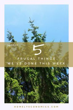 Five frugal things we've done this week? I was struggling to think of one! Eventually I remembered a few things that I could claim, and here they are!