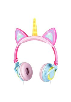 GBD Unicorn Kids Cat Ear Headphones for Girls Boys Toddlers Tablet School Supply Gifts,Light Up Wired Kids Pink Headphones Over On Foldable Ear Game Headset Travel Holiday Birthday Gifts Unicorn Kids, Unicorn Party, My Little Pony Dress, Pink Headphones, Unicorn Fashion, Cute Stationery, Pink Kids, Arya
