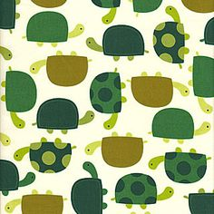 Ann Kelle Urban Zoologie - Turtles, Grass - $10.50 per yard