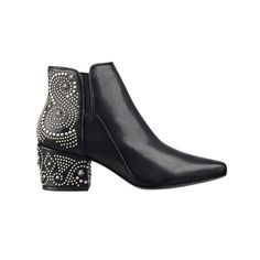 The Top 5 Accessories To Buy In August | Embellished black leather booties