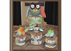 skip hop tree top friends diaper cake by janet