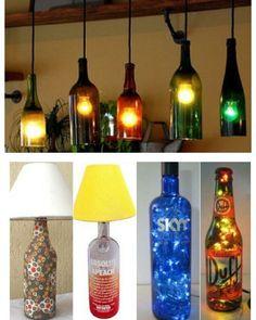 Mais um Diy que tal fazer sua iluminação com garrafas de vidros usadas? Da pra…