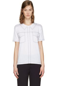 Stella McCartney - White Topstitched T-Shirt