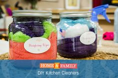 DIY Kitchen Cleaners -  Stay clean and green with @sophieuliano's DIY kitchen cleaners. Easy to make, easy to use, and good for the earth! Catch Home and Family weekdays at 10/9c on Hallmark Channel!