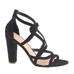 J.Crew - Suede geometric high-heel sandals Want!