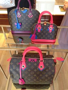 Bring some color into your fall wardrobe! Explore the Louis Vuitton Monogram Totem Collection Bags.