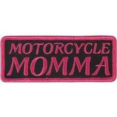 Motorcycle Momma Pink Ladies Funny Embroidered FUN NEW Quality Biker Vest Patch!